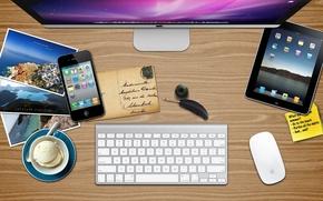 Обои ipad, Mac, iphone, apple summer desk