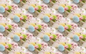 Картинка фон, текстура, весна, пасха крашенки