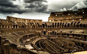 Картинка колизей, тучи, рим