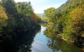 Обои лето, река, янтра, северная болгария