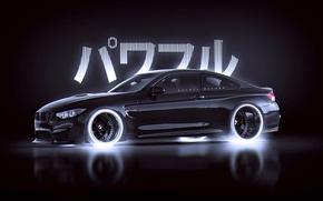 Картинка BMW, Japan, Car, Black, Style, by Khyzyl Saleem, M4
