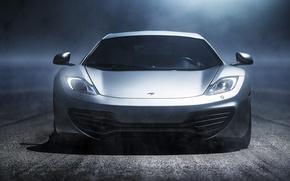 Картинка McLaren, Туман, Ночь, Свет, Макларен, Суперкар, MP4-12C, Supercar, Fog, Ligth, Nigth, Фар