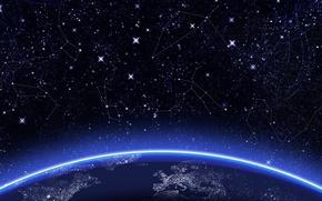 Картинка space, wallpaper, night, stars