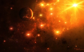 Картинка космос, звезды, арт, space, art, stars, heat