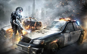 Картинка машина, меч, броня, Ниндзя, Metal Gear, Киборг, Raiden, Rising, Metal Gear Rising: Revengeance, напополам