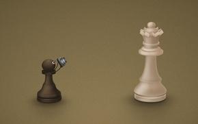 Обои пешка, фотоапарат, Шахматы