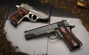 Картинка оружие, пистолеты, Colt, Walther
