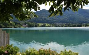 Картинка вода, природа, озеро, фото, побережье, Австрия, St.Gilgen