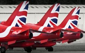Картинка самолёты, Red Arrows, 3 Reds