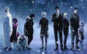 Картинка снег, Tokyo Ghoul, Kaneki Ken, Токийский Гуль, Kirishima Ayato, Tatara, Suzuya Juuzou, Shinohara Yukinori, Amon …