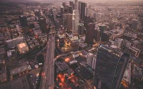 Обои США, город, высотки, дома, Лос Анджелес