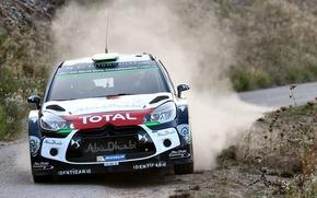 Картинка Пыль, Citroen, DS3, WRC, Rally, Передок