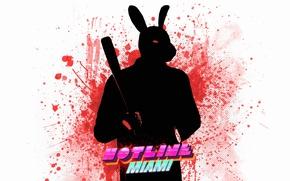 Картинка кровь, лого, games, Hotline Miami