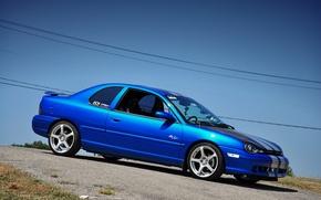 Картинка Dodge, Blue, Neon