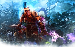 Картинка Defense of the Ancients, Dota 2, Faceless Void, Dazzle, Troll Warlord