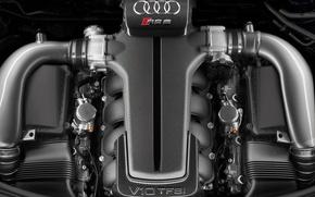 Обои Audi, двигатель, V10 TFSI