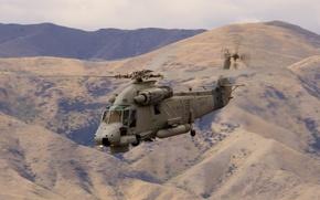Картинка горы, вертолёт, многоцелевой, UH-2, Kaman, «Сиспрайт», Seasprite