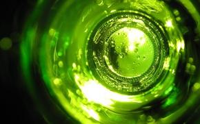 Обои стекло, Бутылка, зеленый