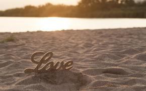 Картинка песок, пляж, любовь