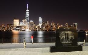 Картинка Ночь, Нью Йорк, New York, Night, Manhatten, Memorial, Манхэттэн, Мемориал