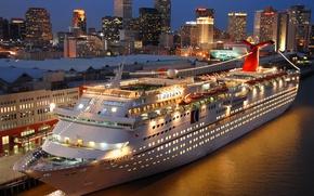 Картинка city, night, ship