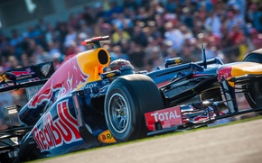 Картинка USA, Formula 1, Red Bull, Vettel, Чемпион