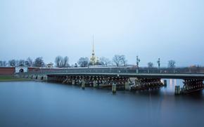 Картинка мост, река, Russia, питер, санкт-петербург, нева, St. Petersburg