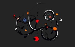 Картинка линии, фон, краски, цвет, арт, объем
