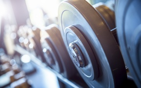 Картинка metal, gym, dumbbell