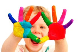 Картинка мальчик, Краска, руки, 158