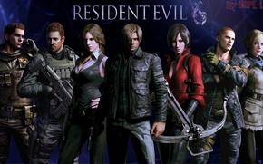 Картинка Resident Evil, Resident Evil 6, Leon Scott Kennedy, Helena Harper, Chris Redfield, Sherry Birkin, Ada …