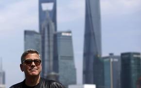 Картинка город, фон, George Clooney