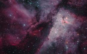 Картинка космос, звёзды, созвездие, Туманность Киля, мироздание