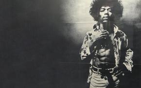 Обои Jimi, ремень, Джими, брюки, Hendrix, рубашка, Хендрикс, черно-белое фото