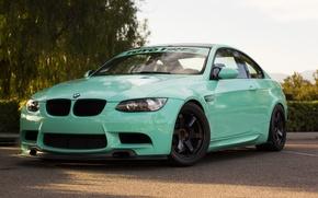 Картинка green, bmw, бмв, turbo, wheels, tuning, power, germany, e92, volk, toyo