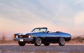 Картинка авто, Chevrolet, wallpaper, шевроле, auto, muscle car, 454, Chevelle, Convertible, 1972, Malibu