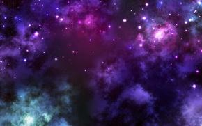 Обои энергия, космос, звезды, облака