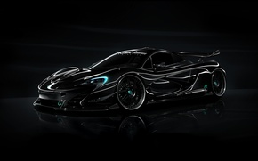 Картинка McLaren, Black, Tuning, Wheels, HRE, P41