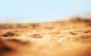 Картинка песок, пляж, макро, природа, sand