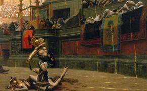 Обои шлем, песок, битва, кровь, толпа, боец, fight, gladiator, хлеба и зрелищ, империя, death or life, ...