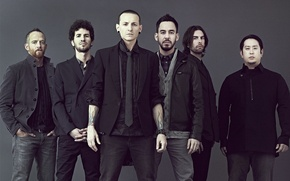 Картинка Linkin Park, Mike Shinoda, Chester Bennington, Photo, Линкин Парк, Phoenix, промо 2012, Joe Hahn, Rob ...