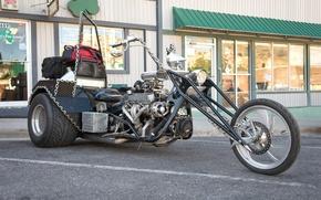 Обои байк, мотоцикл, трехколесный
