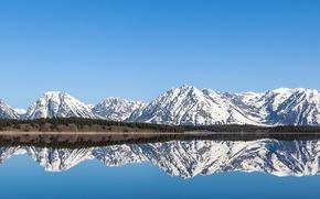 Обои небо, море, горы, снег, обои, природа