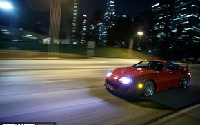 Картинка turbo, red, supra, japan, toyota, muscle, jdm, tuning, power, race, speed
