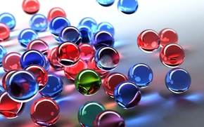 Обои шарики, цвета, стекло