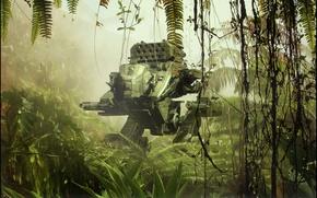 Картинка машина, оружие, джунгли, Stardriver