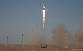 Обои Союз ТМА-16, запуск, ракета