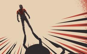 Картинка фон, фантастика, тень, костюм, супергерой, marvel, комикс, фан-арт, Человек-муравей, Ant-Man
