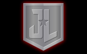 Картинка metal, logo, star, symbol, comics, shield, Justice League, DC, JL