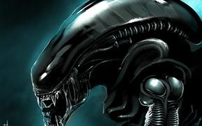 Картинка Чужой, Alien, art, Xenomorph, by TheRisingSoul
